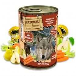 Cerf à la carotte, la poire et le pissenlit
