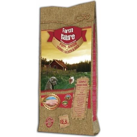 FARM NATURE  Junior à la Dinde, Poulet & Riz pour Chiots